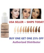 Phoera Foundation Makeup Full Coverage Fast Base Brighten Long Lasting S... - $4.78+