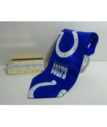 Rare Mens Necktie NFL Indianapolis Colts Short Blue, white by Ralph Mart... - $29.35