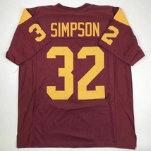 New OJ O.J. SIMPSON USC Red College Custom Stitched Football Jersey Size... - $49.99