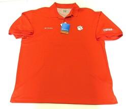 8310b5fb37f40 NWT Columbia Sportswear NCAA Clemson Tigers Orange Polo Shirt Men  39 s Size  Large