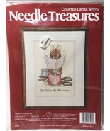 Vintage JCA Needle Treasures TAILOR OF GLOUCESTER Mouse Counted Cross St... - $13.29