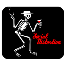 Mouse Pad Social Distortion Skull Skeleton Design American Punk Rock Ban... - €7,92 EUR