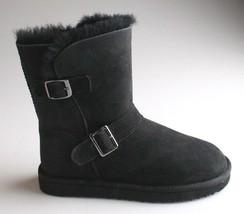 Kirkland Signature Ladies Black Sheepskin Shearling Winter Buckle Boot image 2