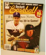 May 2005 Beckett Baseball The 80's Issue Roger Clemens Youth Photo Cover - $14.85