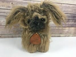 "Vtg 1987 Dakin Elegante Dog Plush Stuffed Toy 12"" Brown - $20.34"