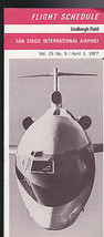 April 1 1977 Flight Schedule- Lindbergh Field- ... - $14.97