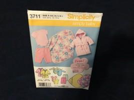 Simplicity Pattern 3711 Babies' Layette Size XXS-L - $1.93