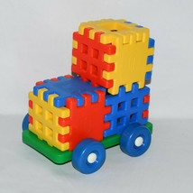 Complete Vintage Little Tikes Wee Waffle Blocks With Chassis 0421!!! - $24.75