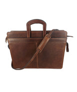 LEATHER BRIEFCASE & MESSENGER SHOULDER BAG Chrome Tanned Cowhide 3 COLORS - $597.97