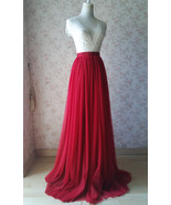 Women High Waist Extra Tall Maxi Tulle Skirt 51-inch Long Tulle Bridesma... - $59.99