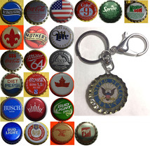 US Navy Coke Sprite Diet pepsi & more Soda beer cap Keychain