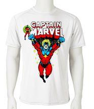 Captain Marvel Dri Fit graphic T-shirt Mar-Vell comic SPF sun shirt active tee image 1