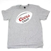 District COORS Football T Shirt XL Adult Gray Short Sleeve Mens Beer Tee... - $5.60