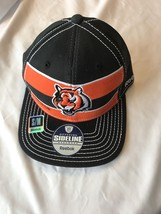 Team Cincinnati Bengals NFL Reebok Black and Orange Cap Size Large/XLarg... - $26.59