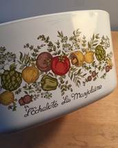 Vintage 70s Corningware 3qt casserole - Spice of Life pattern (A-3-B) with lid image 5