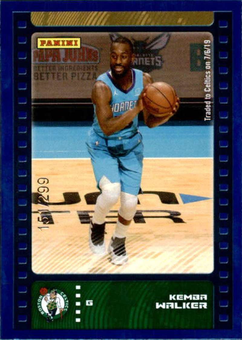 Primary image for 2019-20 Panini NBA Sticker Box Standard Size Blue Foil Insert /299 #41 Kemba Wal