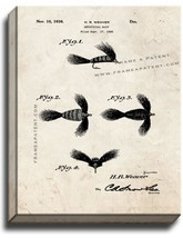 Artificial Bait Patent Print Old Look on Canvas - $39.95+