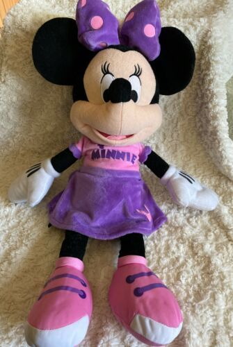 Primary image for Minnie Mouse Purple Pink Fleece Plushed Stuffed Anima Large Toy