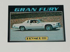 1976 topps cars 1977 #61 plymouth gran fury car card vgex condition - $7.83