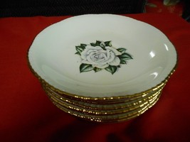 "HOMER LAUGHLIN Dinnerware ""Gardenia"" .8 BREAD / SALAD / DESSERT Plates  ... - $23.97"