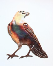 Sitting Crow Metal Wall Art Accent - $9.89