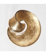 Vintage Signed Trifari Swirl Pin Gold Tone - $10.88