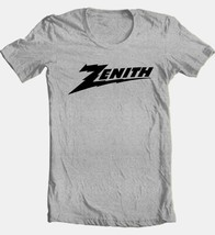 Zenith T shirt retro 80s vintage 70s brands grey cotton blend graphic tee shirt image 2