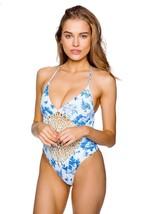 Frankie's Bikinis Hawaiian Mist Poppy One Piece Crochet Detail (S) Nwt $225 - $225.00