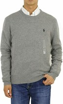Polo Ralph Lauren Mens Fawn Grey 100% Wool Crew Neck Sweater, Medium M 3... - $73.75