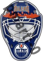 Edmonton Oilers Jackets Front Goalie Mask Vinyl Decal / Sticker 10 Sizes!!! - $3.99+