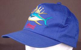 Vtg AHI Hawaii Hat-Blue-Snapback-Fish-Island-Vacation-Dorfman Pacific-Trucker image 3