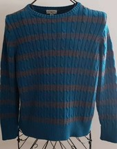 ST. JOHN'S BAY, WOMEN'S SIZE PETITE XL, CLASSIC SWEATER, TEAL & GRAY, CO... - $28.80