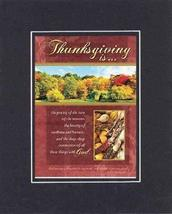 Thanksgiving is 8 x 10 Inches Biblical/Religious Verses set in Double Be... - $11.14