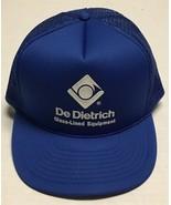 Vtg De Dietrich Glass Lined Equipment Trucker Hat Mountainside New Jerse... - $23.75