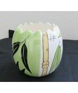 Inspirado Seattle USA Handpainted Ceramic Bamboo Vase Pot Bowl Container... - $39.55