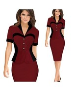 Women's Work  Dress Business Dresses short sleeve Pencil Casual Office W... - $34.99