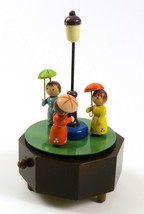 Vintage Schmid Hand Carved Raindrops Keep Falling on My Head Music Box, Works  - $34.64
