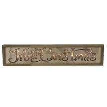 """15.75"""" Lighted Wooden """"Merry Christmas"""" Christmas Wall Decoration - $16.57"""
