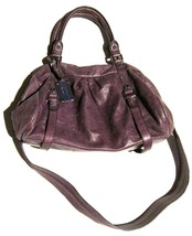 Marc by Marc Jacobs Q Groovee Satchel Bag in Purple Leather  - $76.23