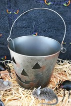 POTTERY BARN GALVANIZED PUMPKIN BUCKET – A HANDLE ON SPOOKY! SAVE ON SHI... - $29.50