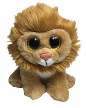 "Ty VelveTY LOUIE Lion  Plush 6"" Beanbag Stuffed Animal Toy Large Eyes - $14.06"