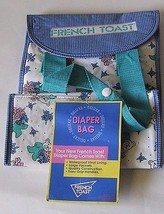Diaper Bag French Toast Vinyl Waterproof Lining Blue White New With Tags - $7.00