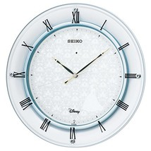 Seiko Clock Clock Disney Cinderella Radio Waves Hanging Clock (White Pearl Paint - $258.55