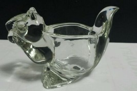 Vtg Avon Clear Glass Crystal SQUIRREL Tea Light Votive Candle Holder Pap... - $8.90
