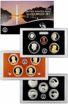 2014  S COMPLETE SILVER PROOF SET OF * 14 * COINS  US Mint Box w COA UNS... - $66.49