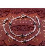 """10.5"""" inches long 925 Sterling silver vintage rose flower design anklets... - $89.09"""