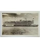 "Old Real Photo Postcard RPPC Streckfus Steamer ""President"" on Mississipp... - $13.67"