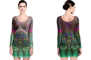 Authentic funkadelic long sleeve bodycon dress