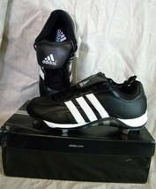 ADIDAS 466358 EXCELSIOR 5 LOW BASEBALL SHOES/CLEATS BLACK/WHITE - $19.99