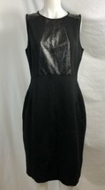 Adrianna Papell Black A-Line Dress w/Embellished Faux Leather, Womens Si... - $23.74